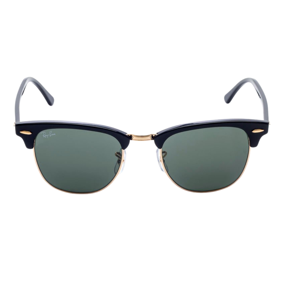 Óculos Ray Ban Clubmaster RB3016 W0365 51 Preto/Dourado
