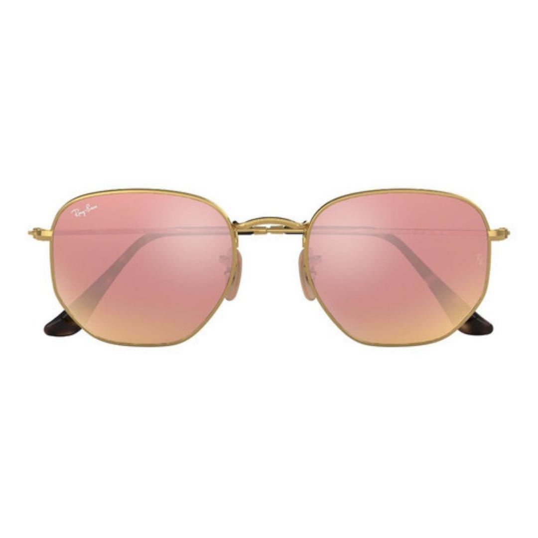 Óculos Ray Ban Hexagonal RB3548NL 9069A5 54 Rose