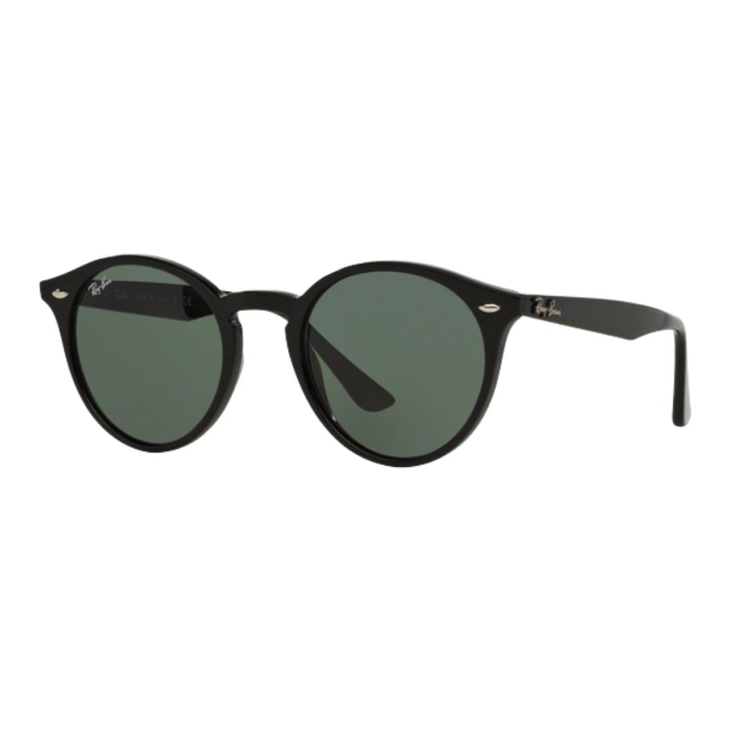 Óculos Ray Ban Redondo RB2180L 60171 901 52 Preto Brilhante