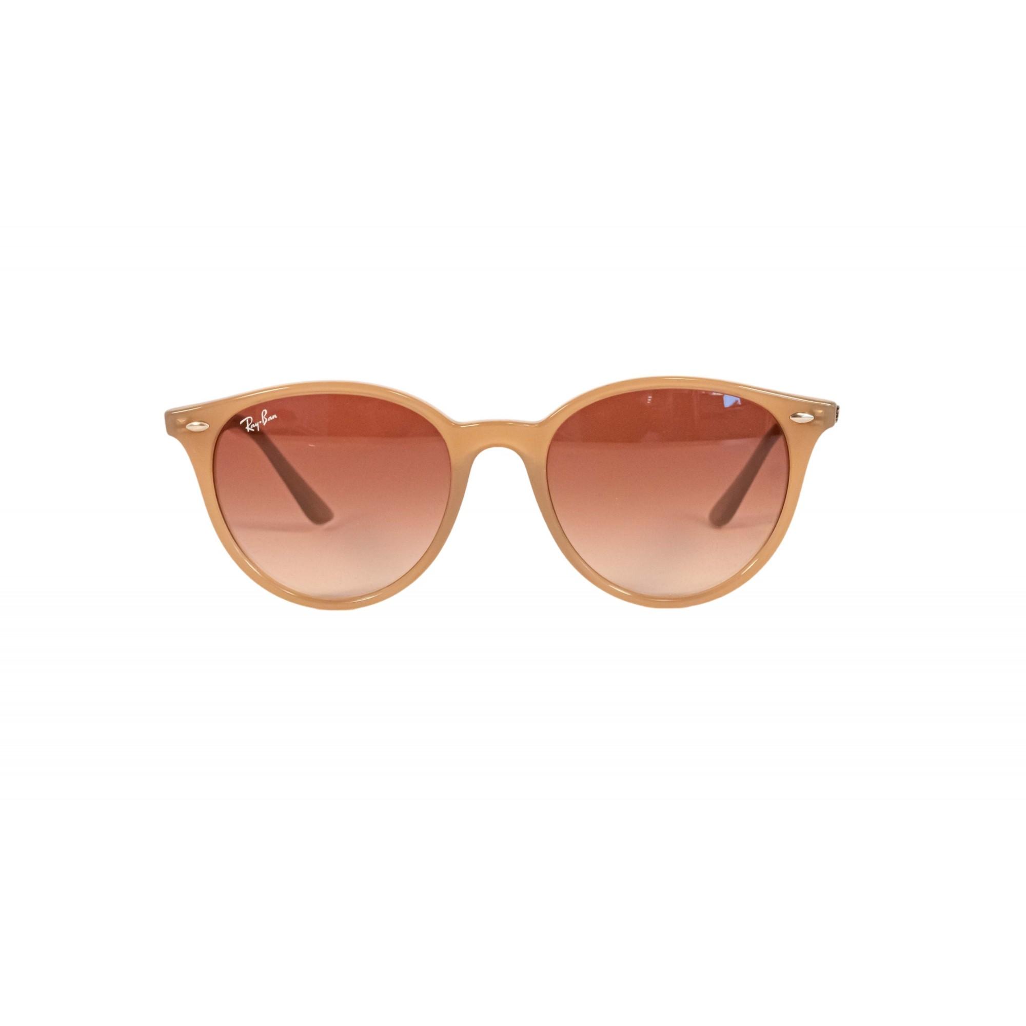 Óculos Ray Ban Redondo Rb4305 616613 53 Bege