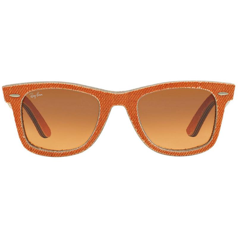 Óculos Ray Ban Wayfarer RB2140 11653C 50 Jeans Laranja