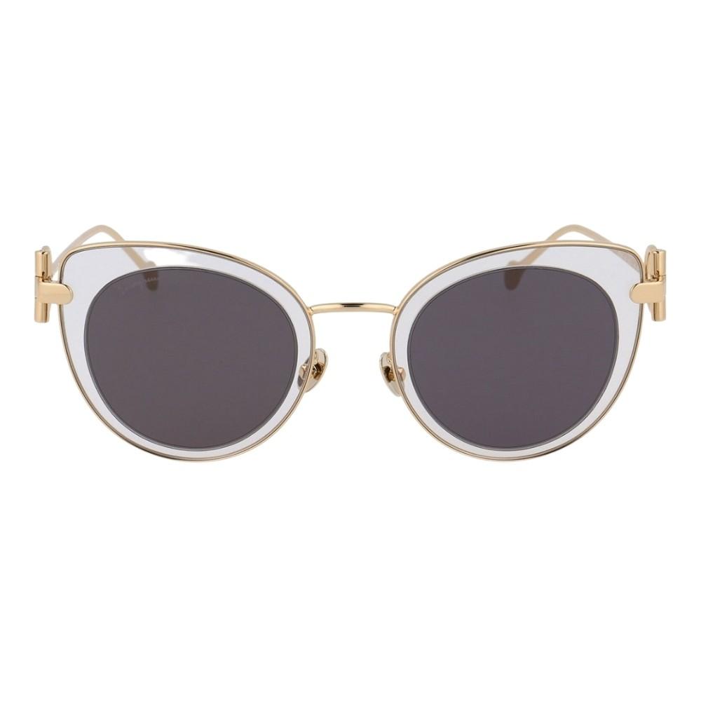 Óculos Salvatore Ferragamo Cat-Eye SF182S 043 50 Dourado