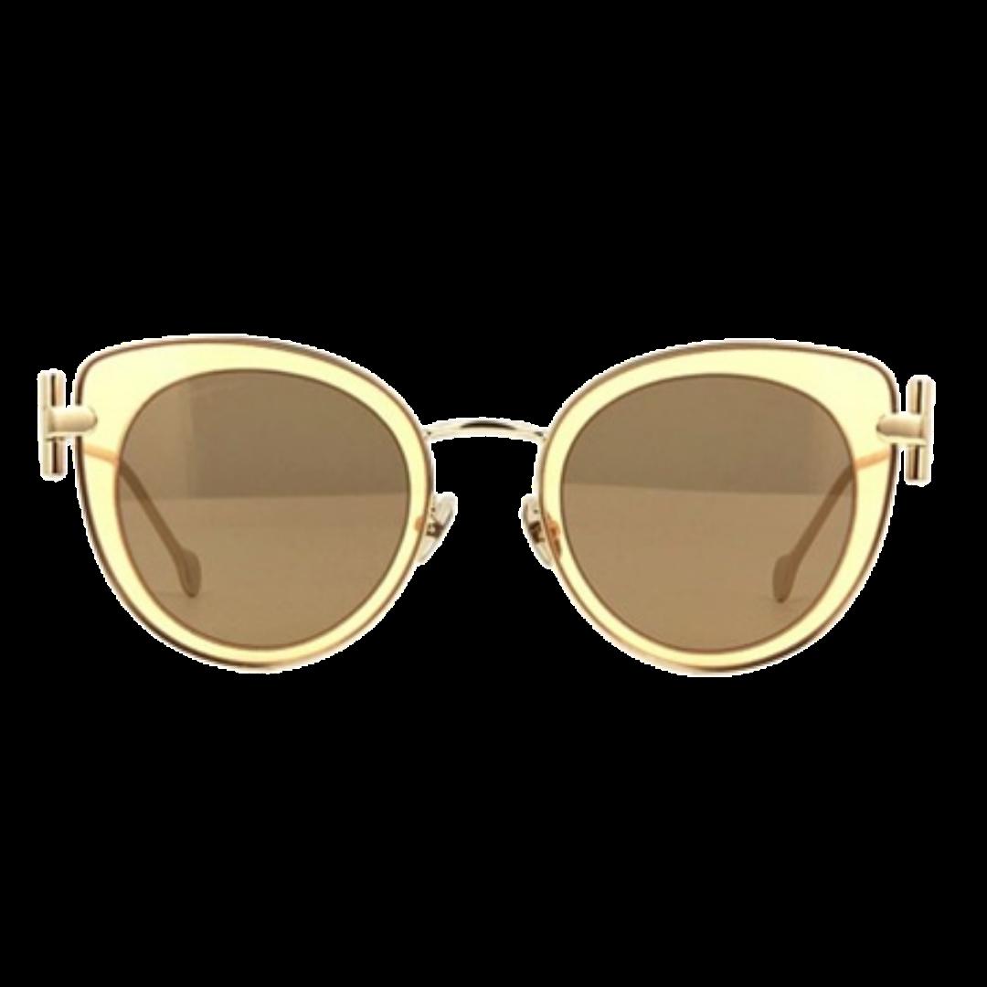 Óculos Salvatore Ferragamo Cat-Eye SF182S 230 50 Dourado