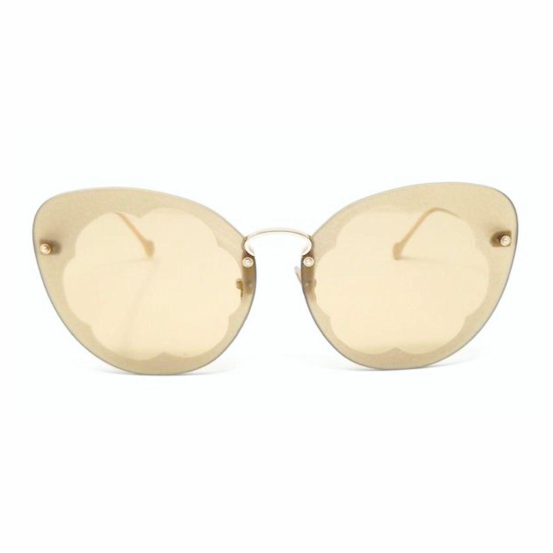 Óculos Salvatore Ferragamo Fiore Borboleta SF178S 718 63 Dourado