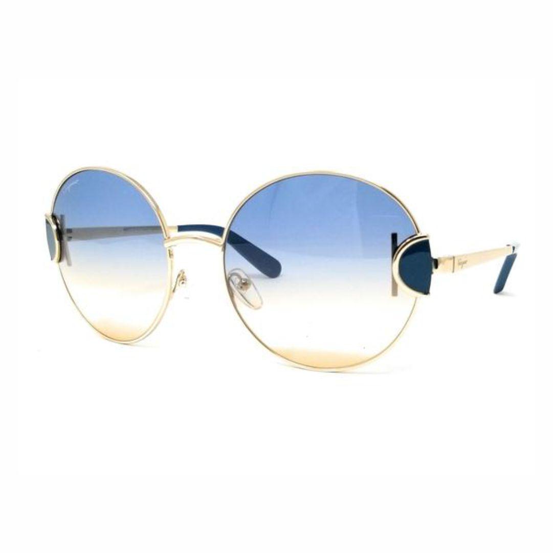 Óculos Salvatore Ferragamo Gold Petrol SF156S 712 59