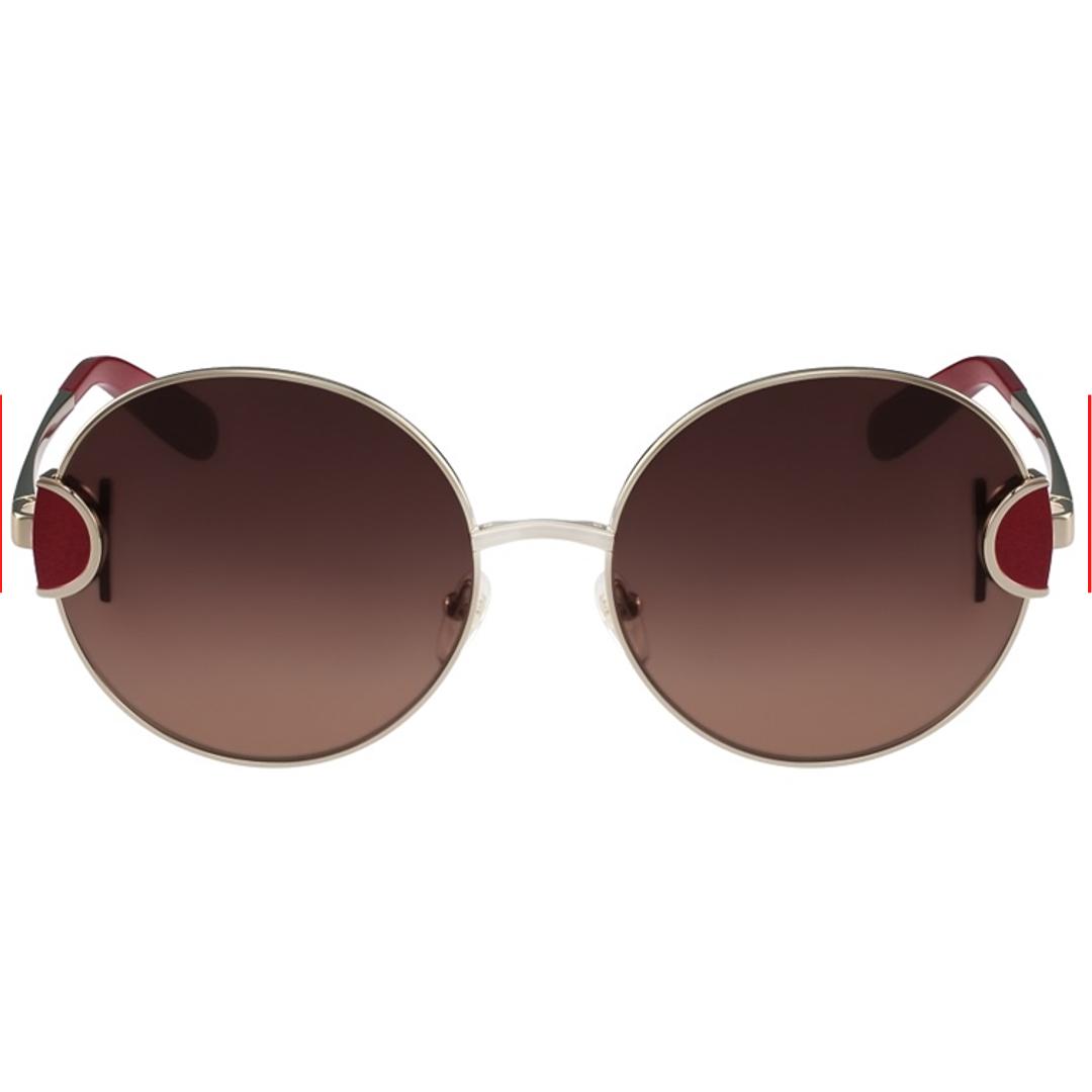 Óculos Salvatore Ferragamo Redondo SF156S 735 59 Dpurado/Vermelho