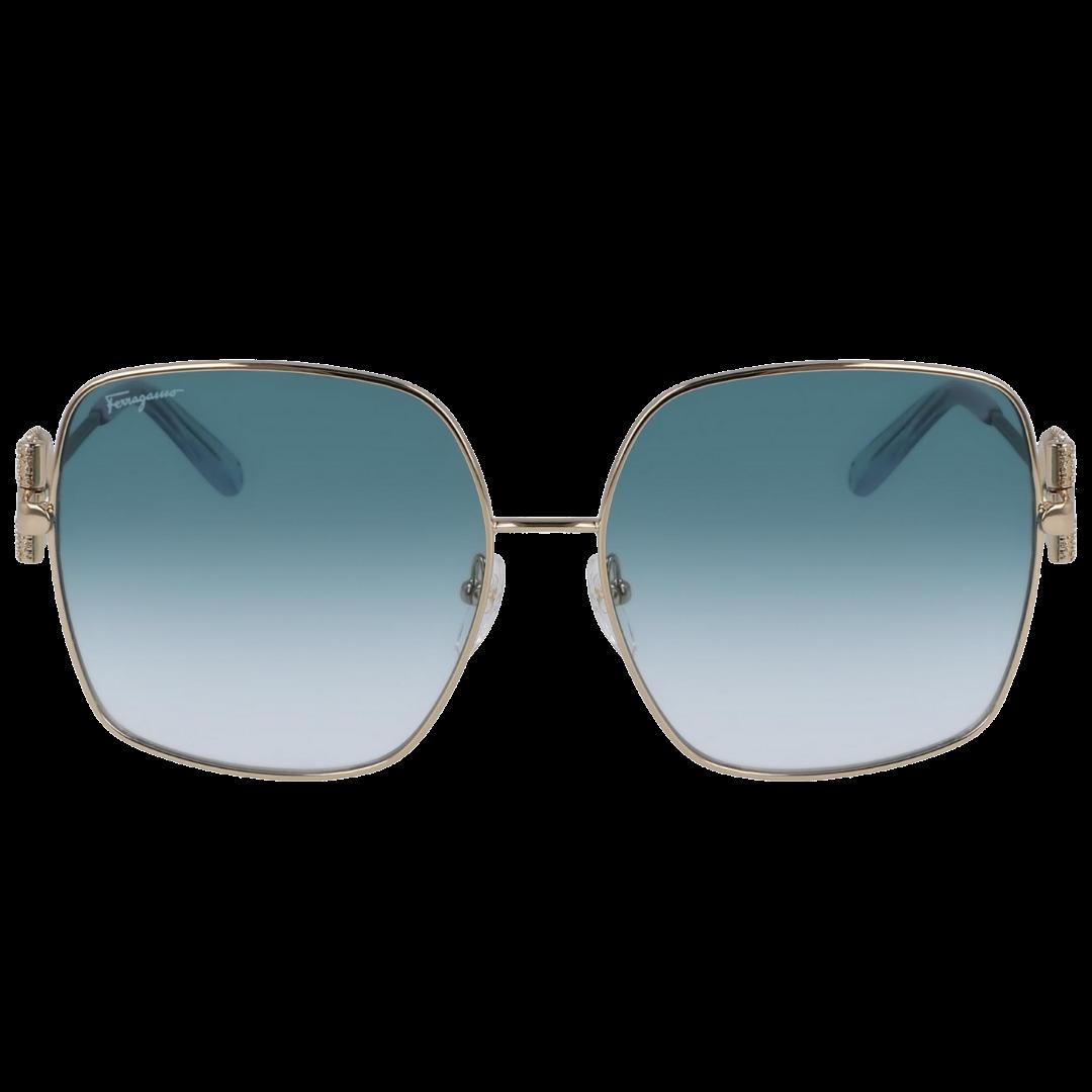 Óculos Salvatore Ferragamo Retangular SF243SR 741 59 Dourado