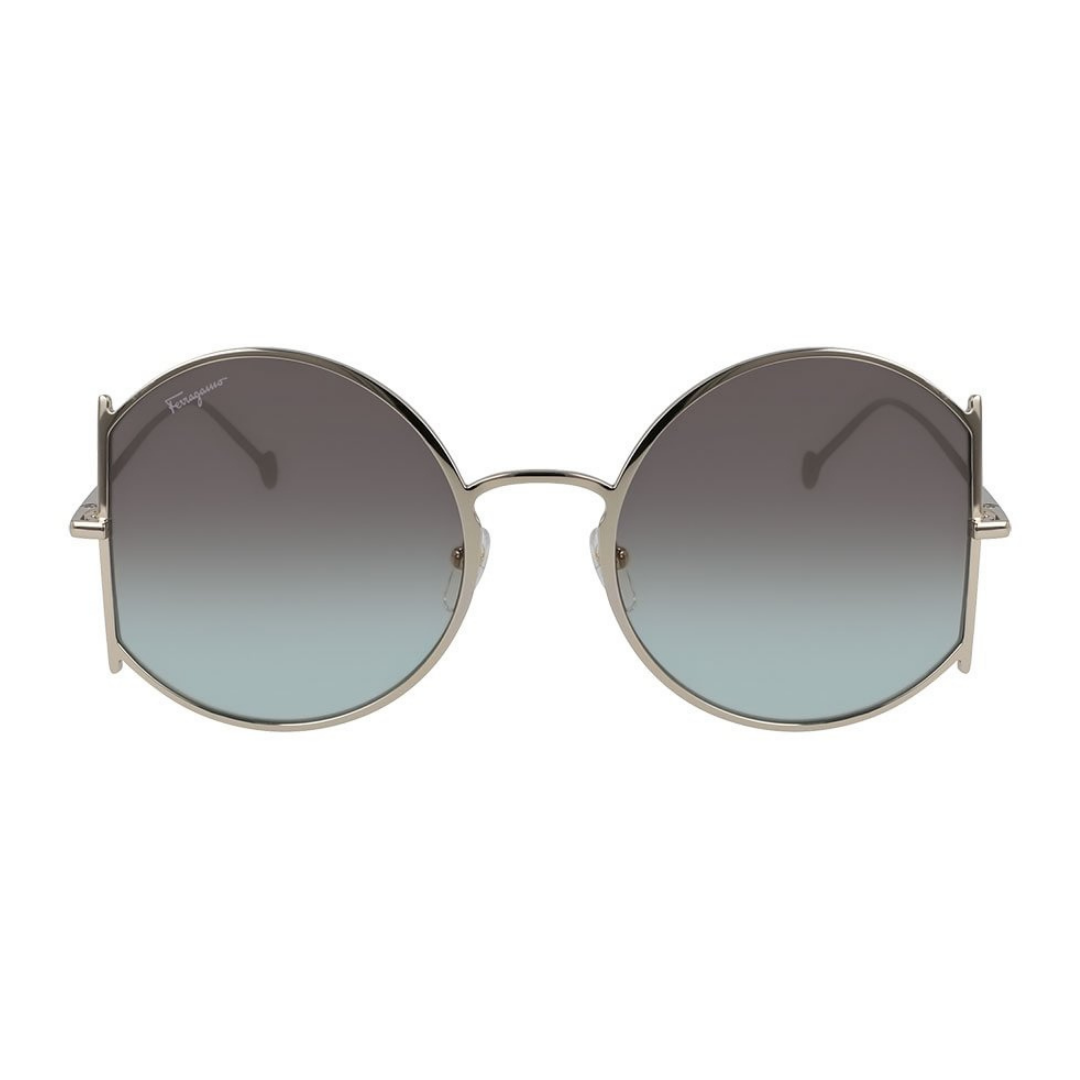 Óculos Salvatore Ferragamo Round SF244S 769 57 Dourado