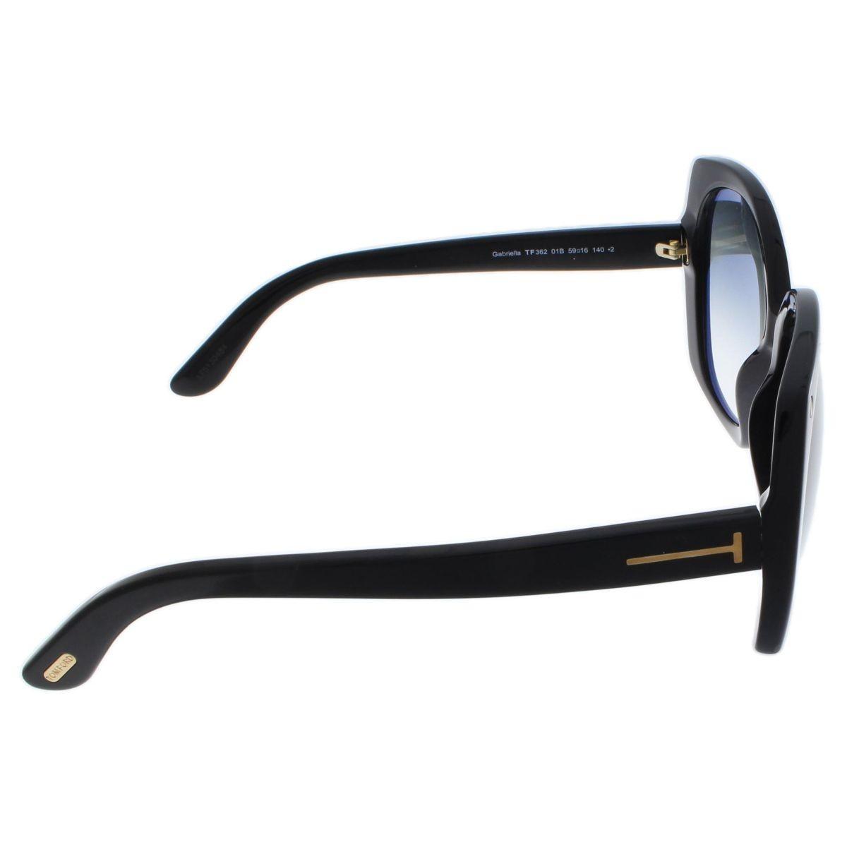 Óculos Tom Ford Máscara TF0362 01B 59 Preto