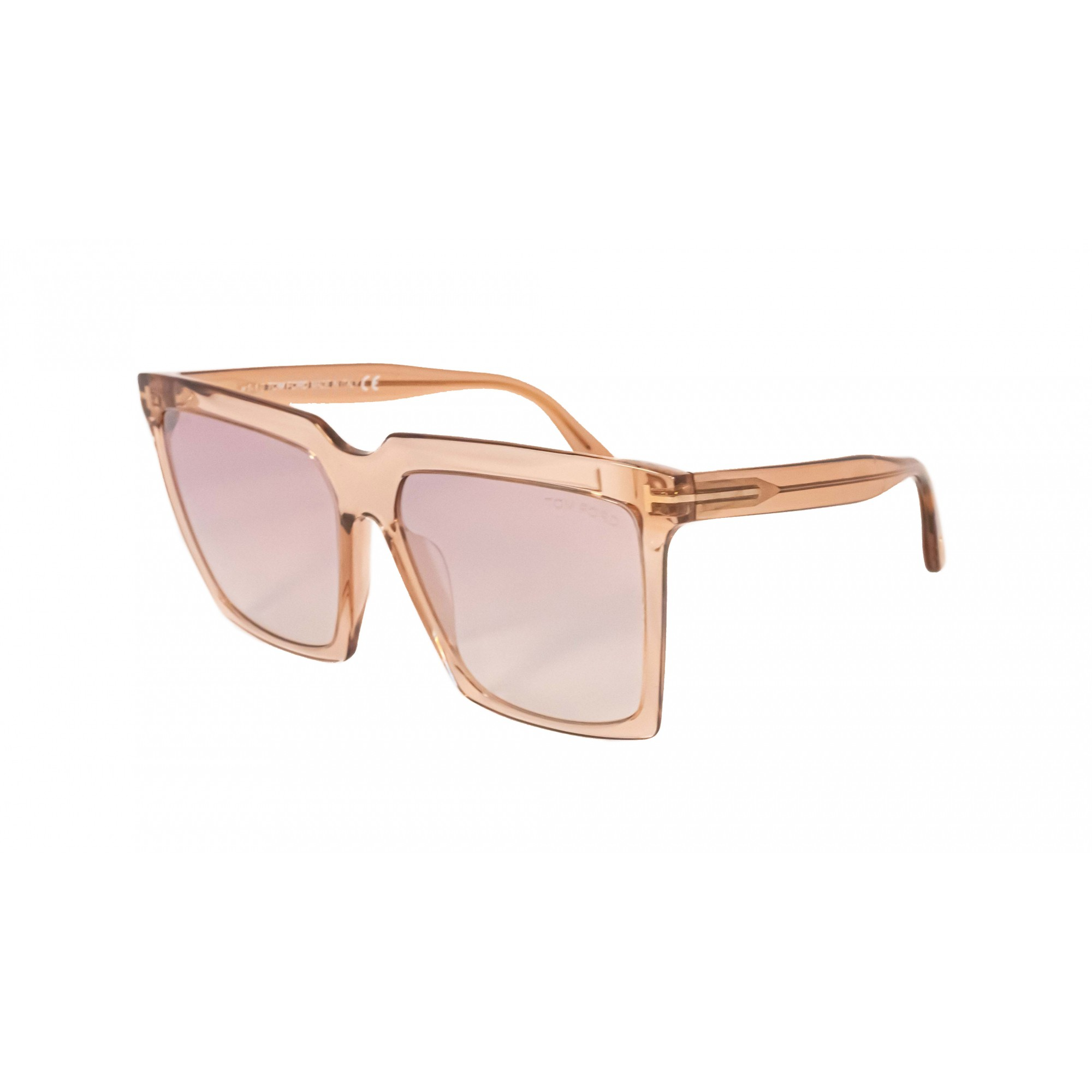 Óculos Tom Ford Quadrado Tf0764 57g 58 Transparente