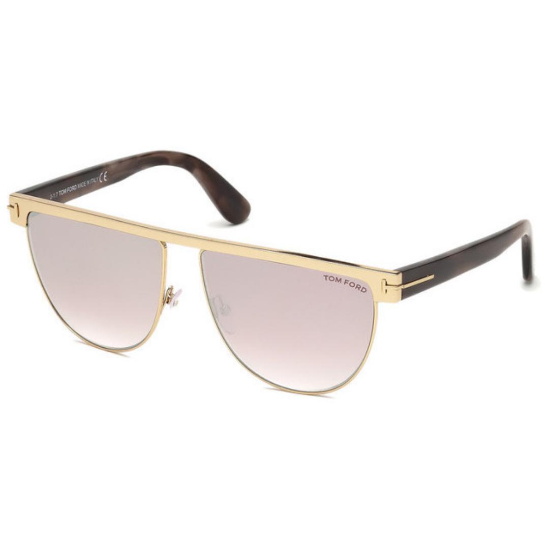 Óculos Tom Ford Sunglasses Flat Top TF0570 28Z 60 Dourado