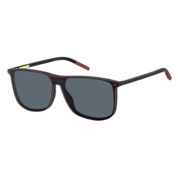 Óculos Tommy Jeans Retangular TJ0017 CS CL 003 58 Preto Transparente