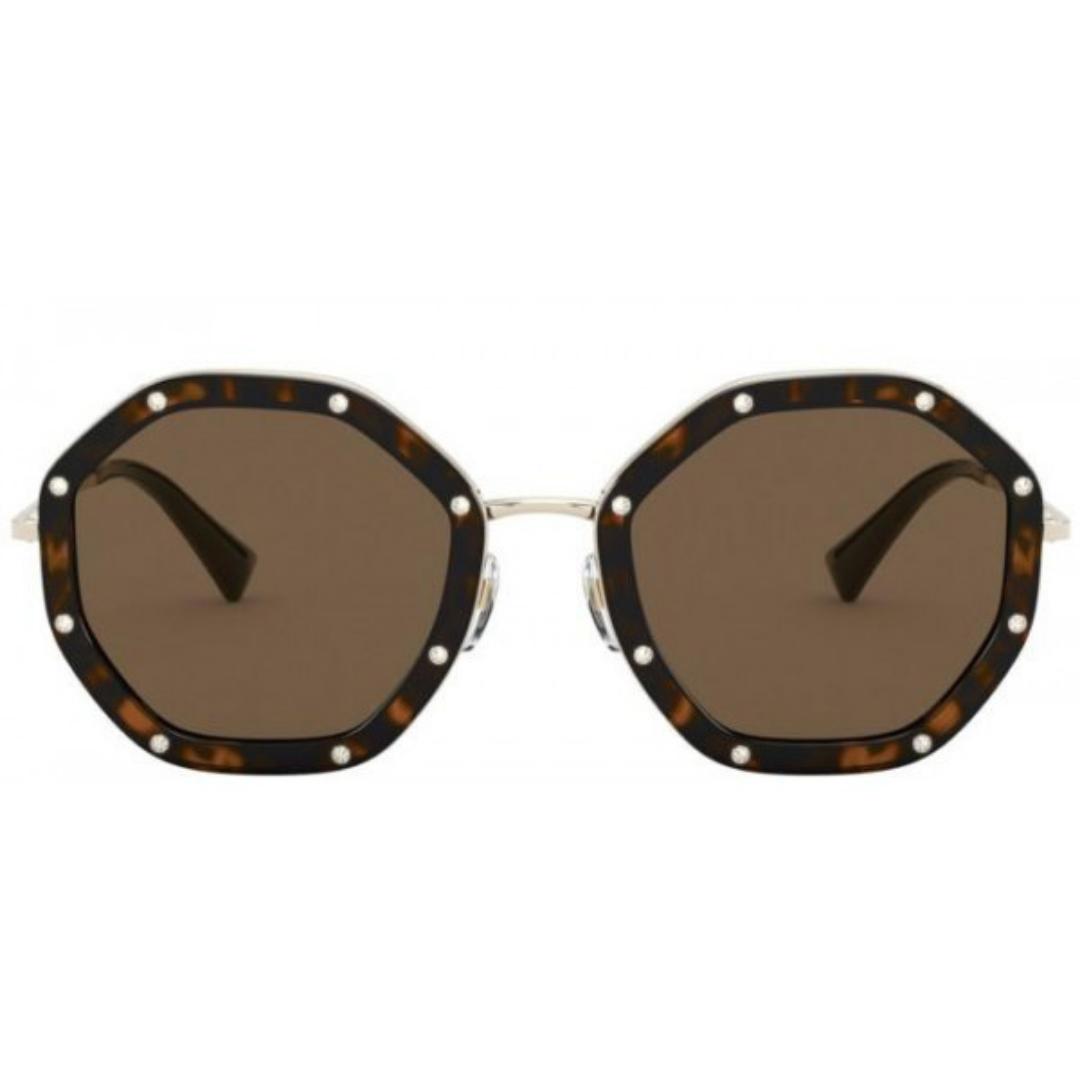 Óculos Valentino Octagonal VA2042 3003/73 55 Dourado/Preto