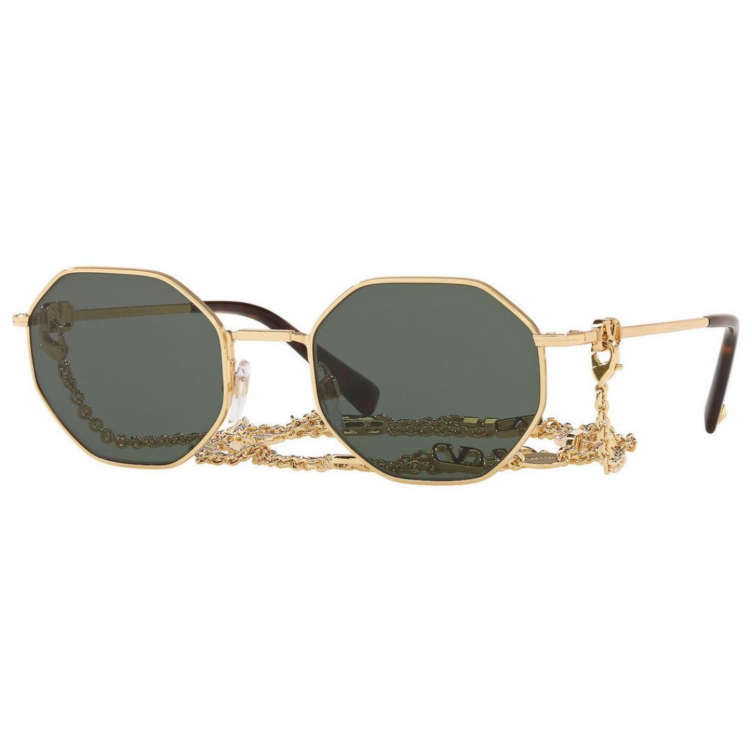 Óculos Valentino Polygonal+Corrente VA2040 300271 52 Dourado