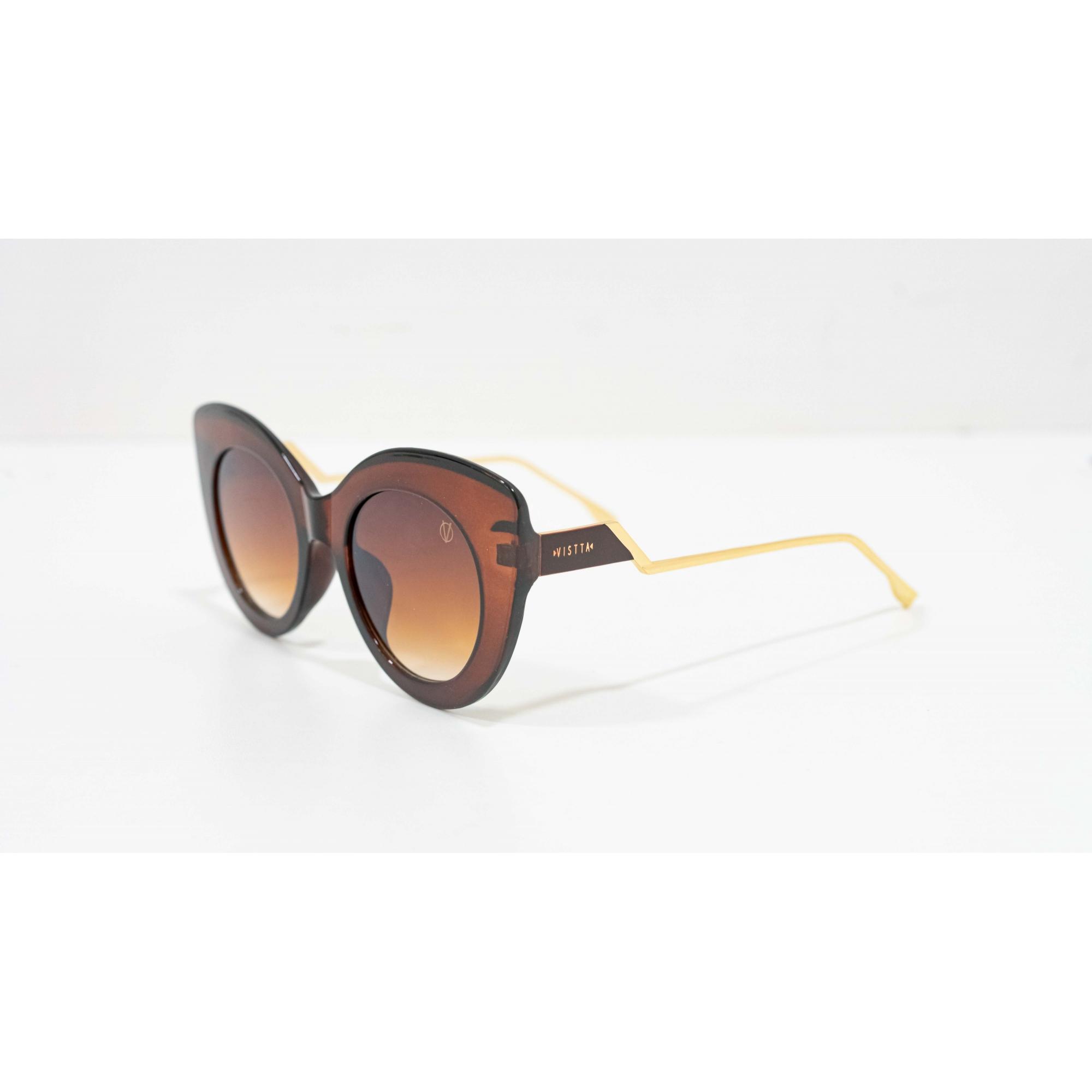 Óculos Vistta Aping Cat Eye HX6502 C3 56 Marrom