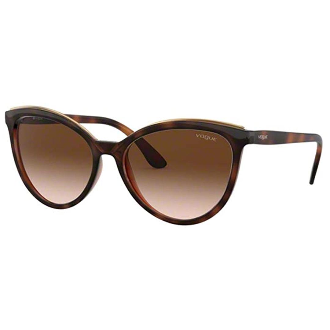 Óculos Vogue Cat-Eye VO5298SL 238613 58 Marrom Escuro