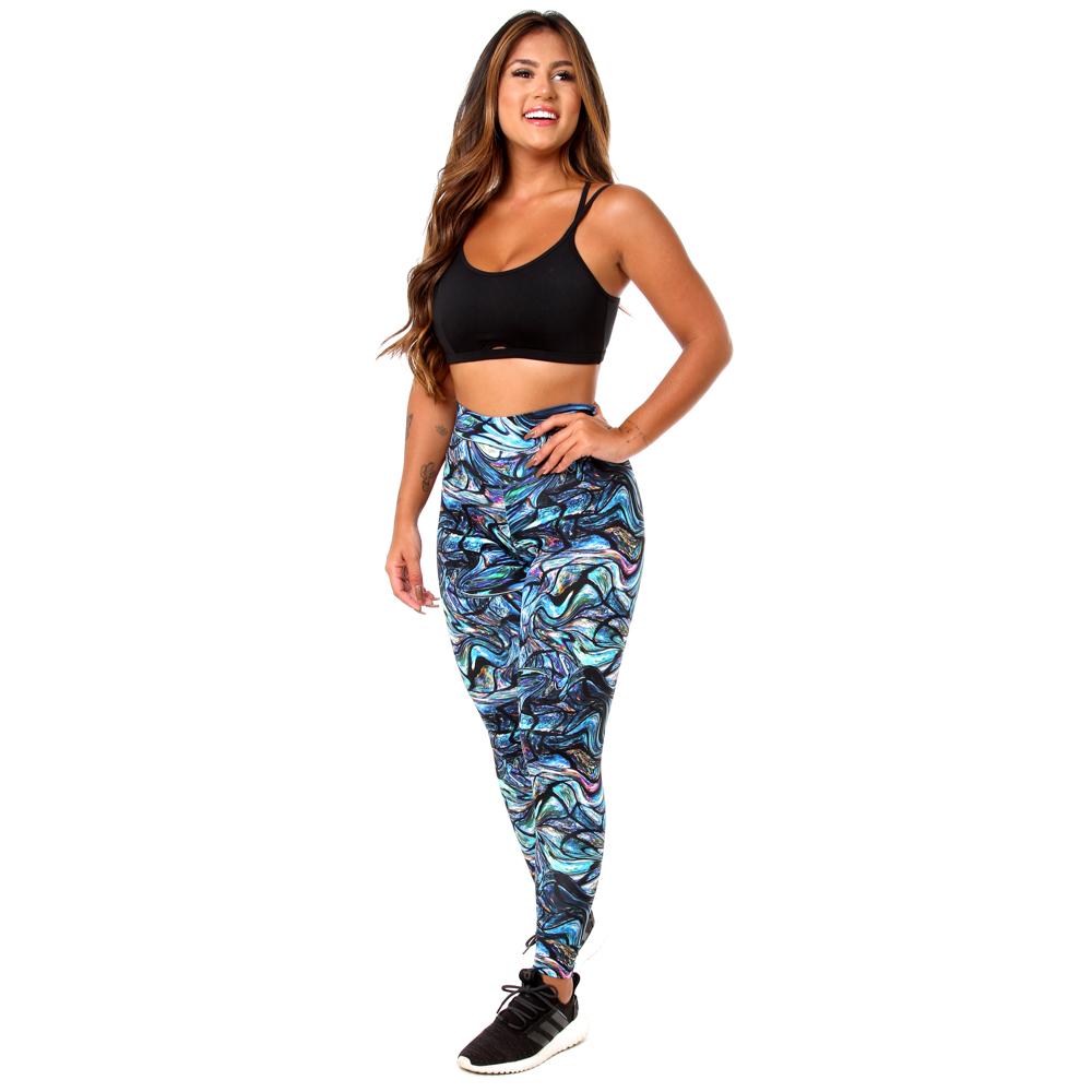 Calça Legging Fitness Feminina Estampa Digital