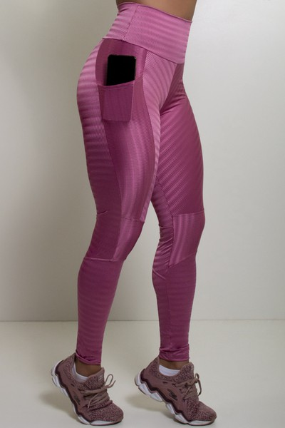 Legging Fitness Zap Geométrica Com Bolso