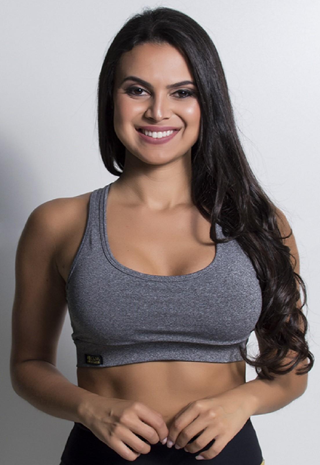 Top Fitness Lua com Bojo Removível