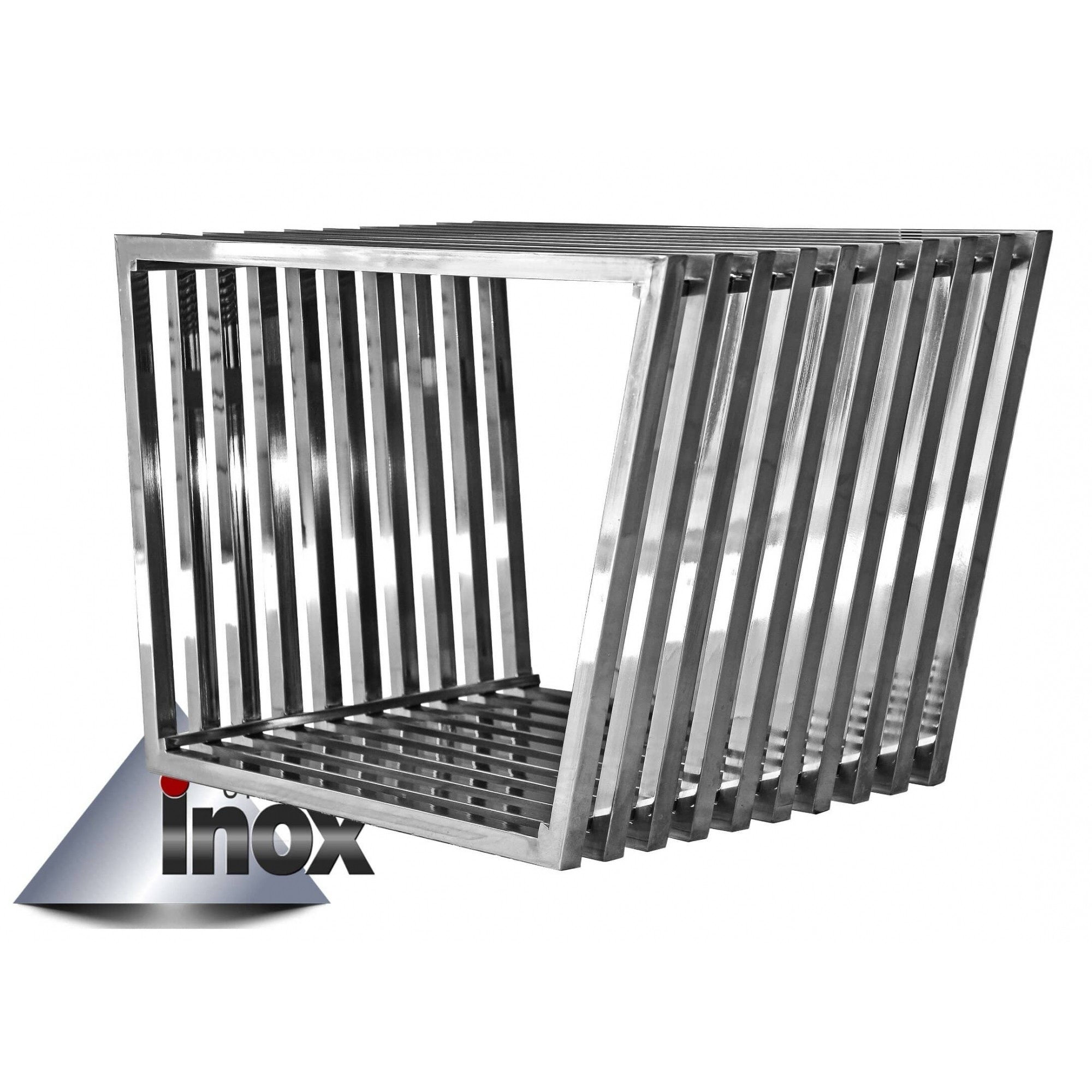 Banco gradeado confeccionado em aço inox