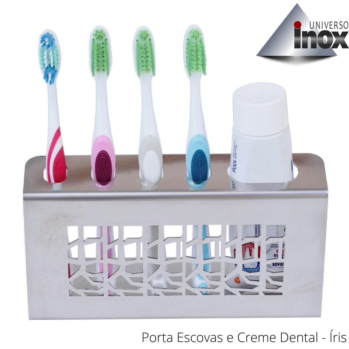 Porta Escovas e Creme Dental Íris