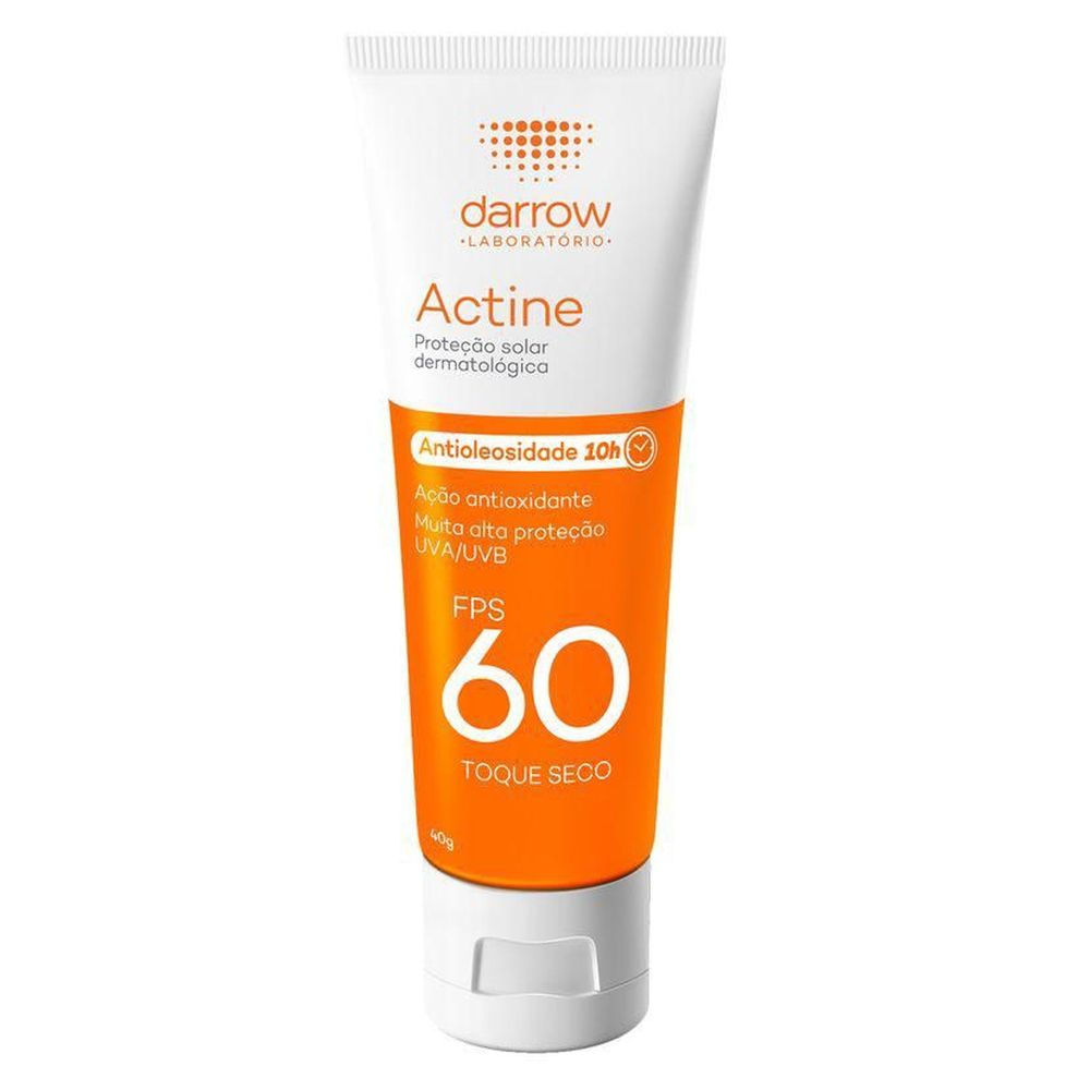 Actine Protetor Solar Antioleosidade FPS60 40g - Darrow