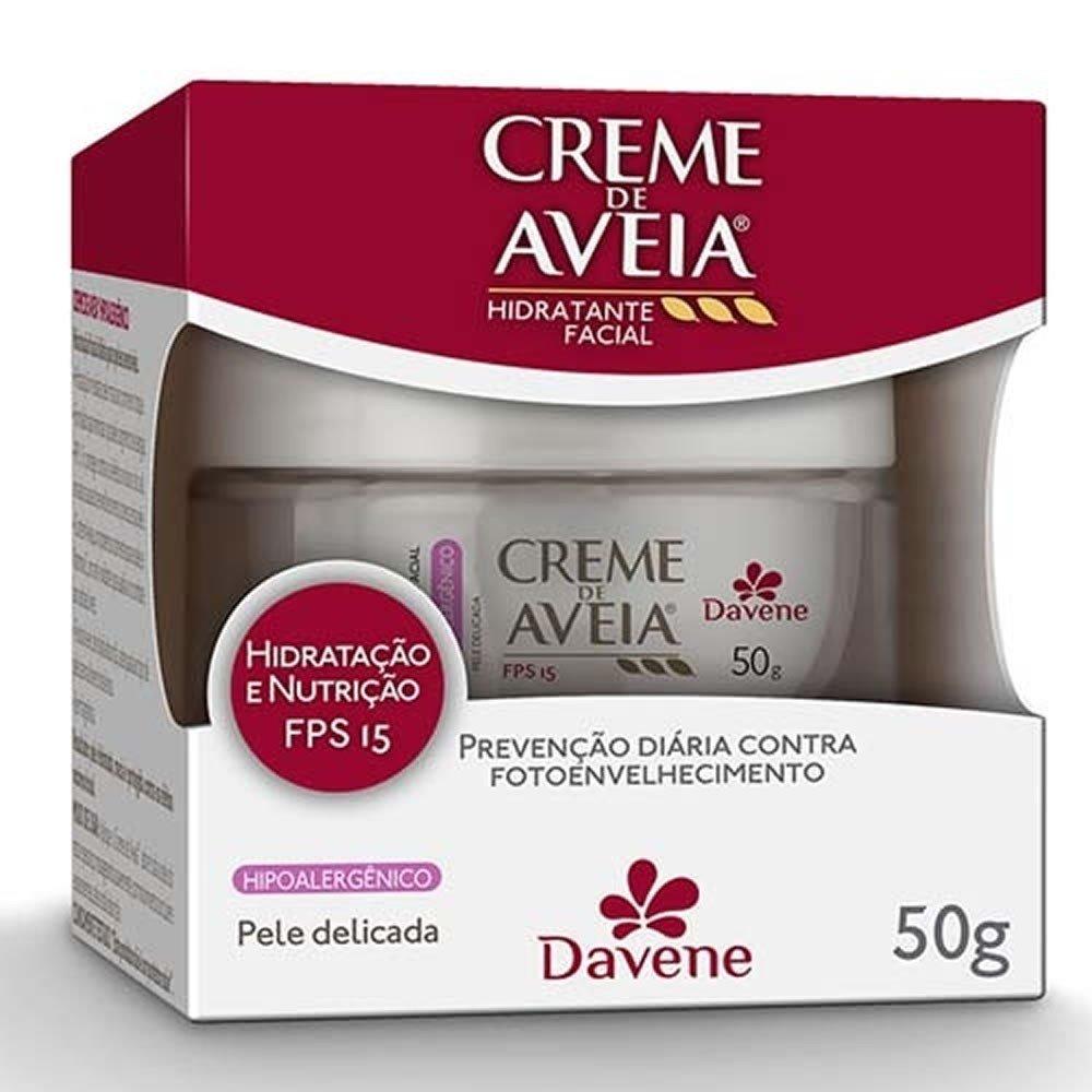 CREME HIDRATANTE FACIAL DAVENE AVEIA HIPOALERGÊNICO 50G