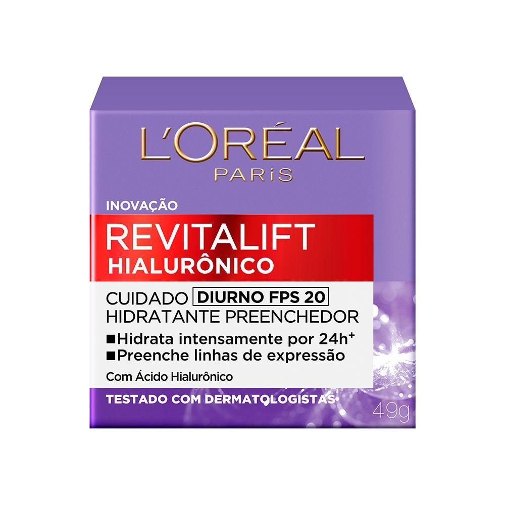 Creme Revitalift Hialurônico Diurno FPS 20 L'Oréal Paris