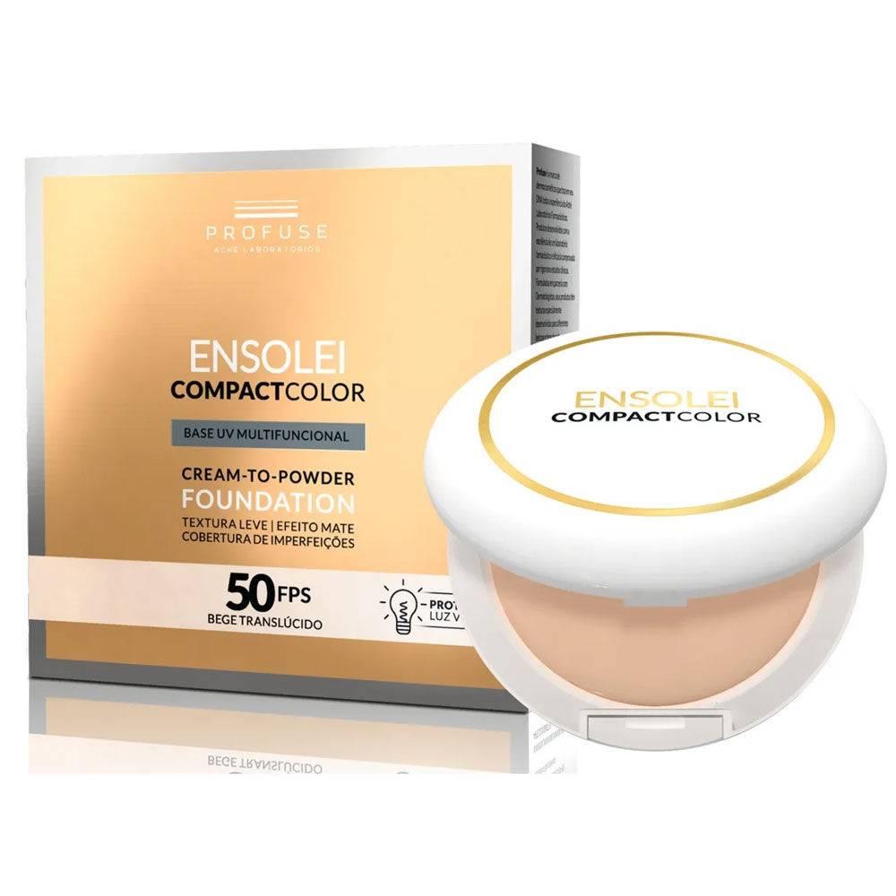 Ensolei Compact Color Base Uv Cor Bege Translúcido Fps50 10g