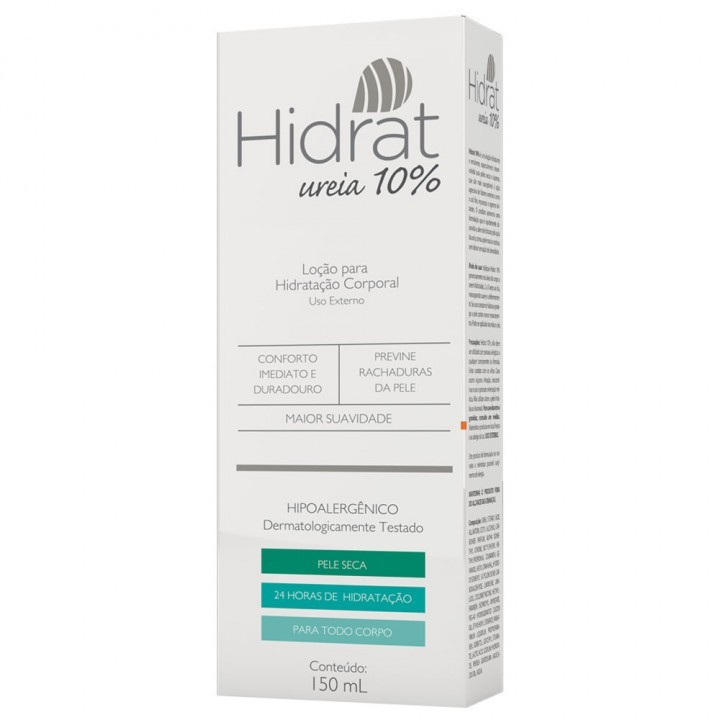 HIDRAT UREIA 10% LOÇÃO HIDRATANTE CORPORAL
