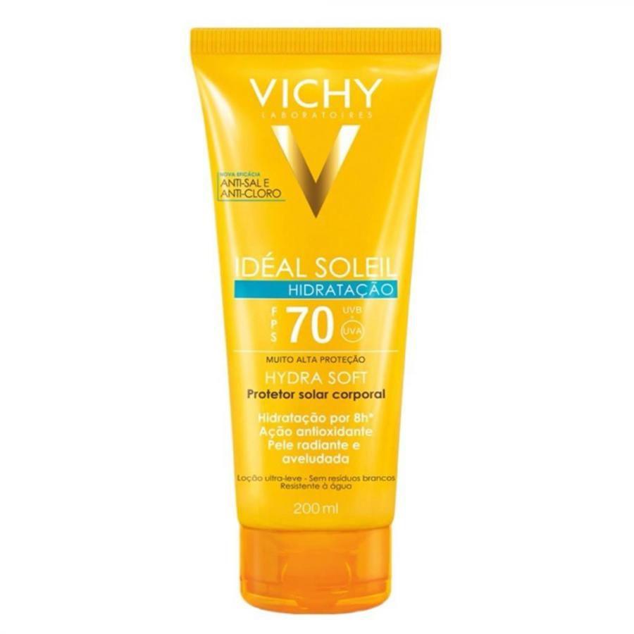 Protetor Solar Vichy - Idéal Soleil Hydrasoft FPS70 - 200ml