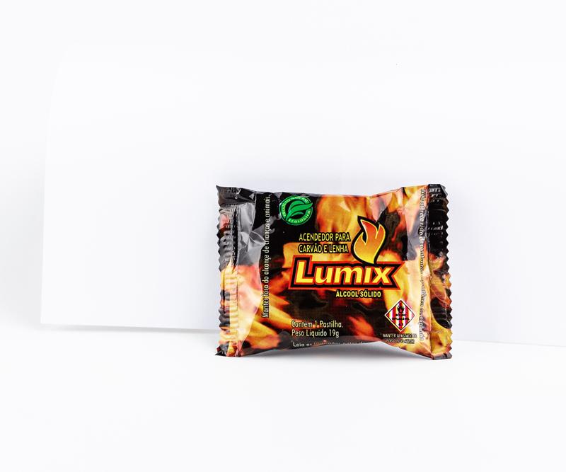 05 Pastilha lumix álcool sólido 19g p/ acender carvão/lenha