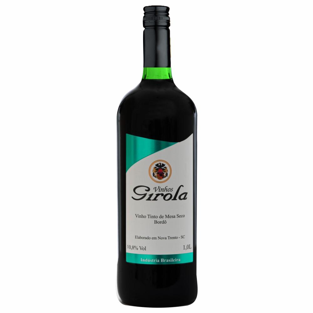 Vinho de Mesa Tinto Seco Bordô 1L
