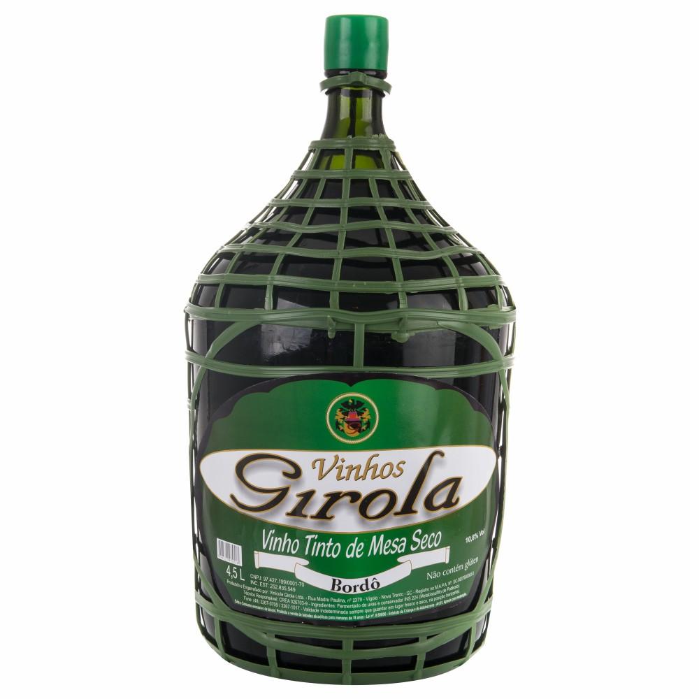 Vinho de Mesa Tinto Seco Bordô 4,5l