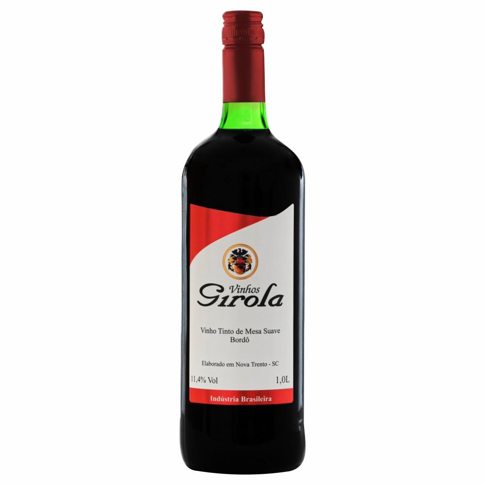 Vinho de Mesa Tinto Suave Bordô 1L