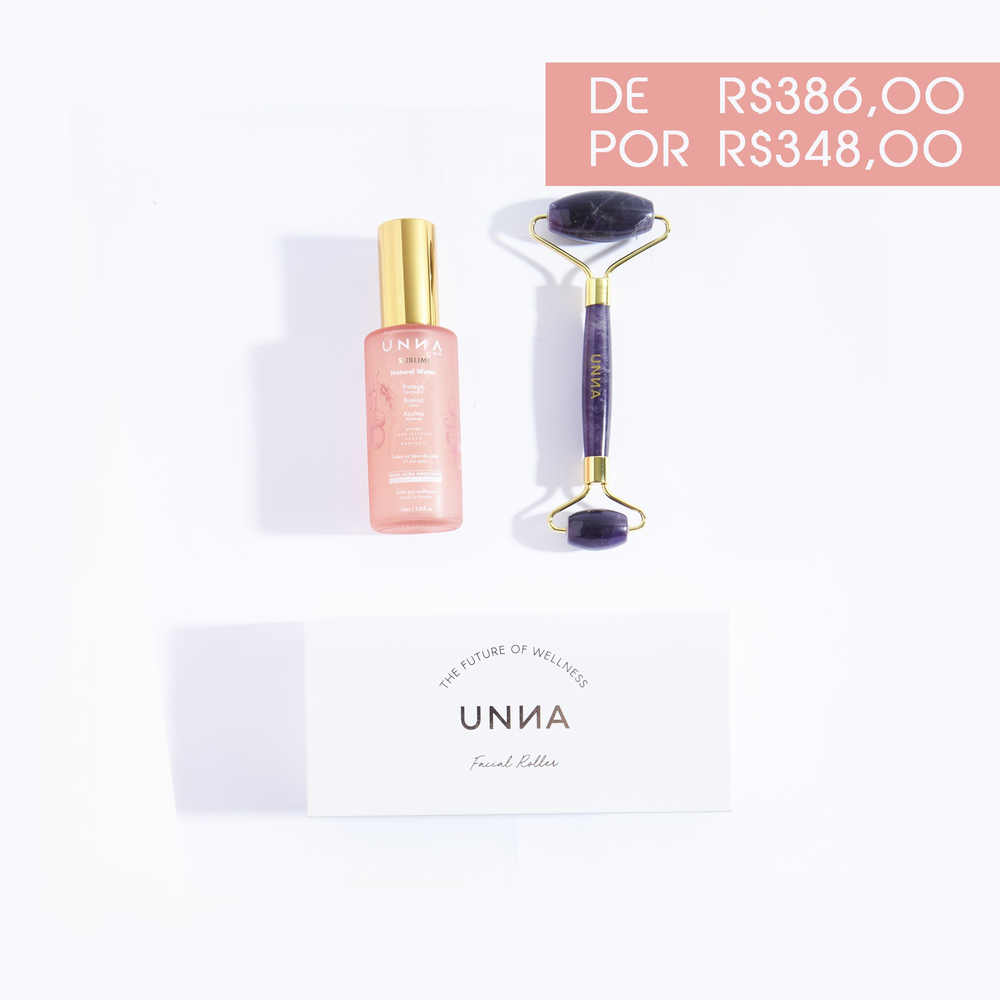 FACIAL ROLLER AMETISTA + ÁGUA SUBLIME 60ml
