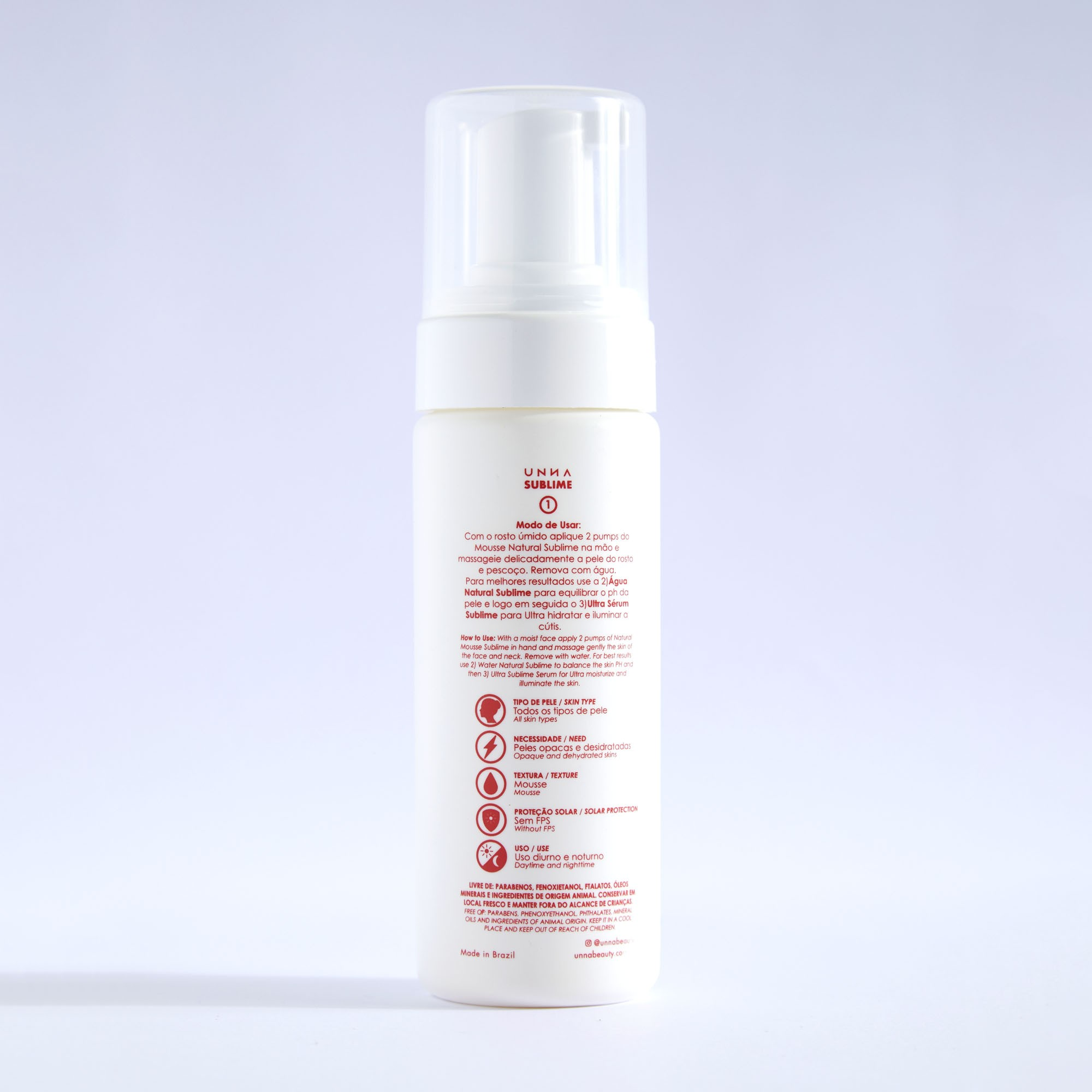 Mousse de limpeza Sublime 150ml