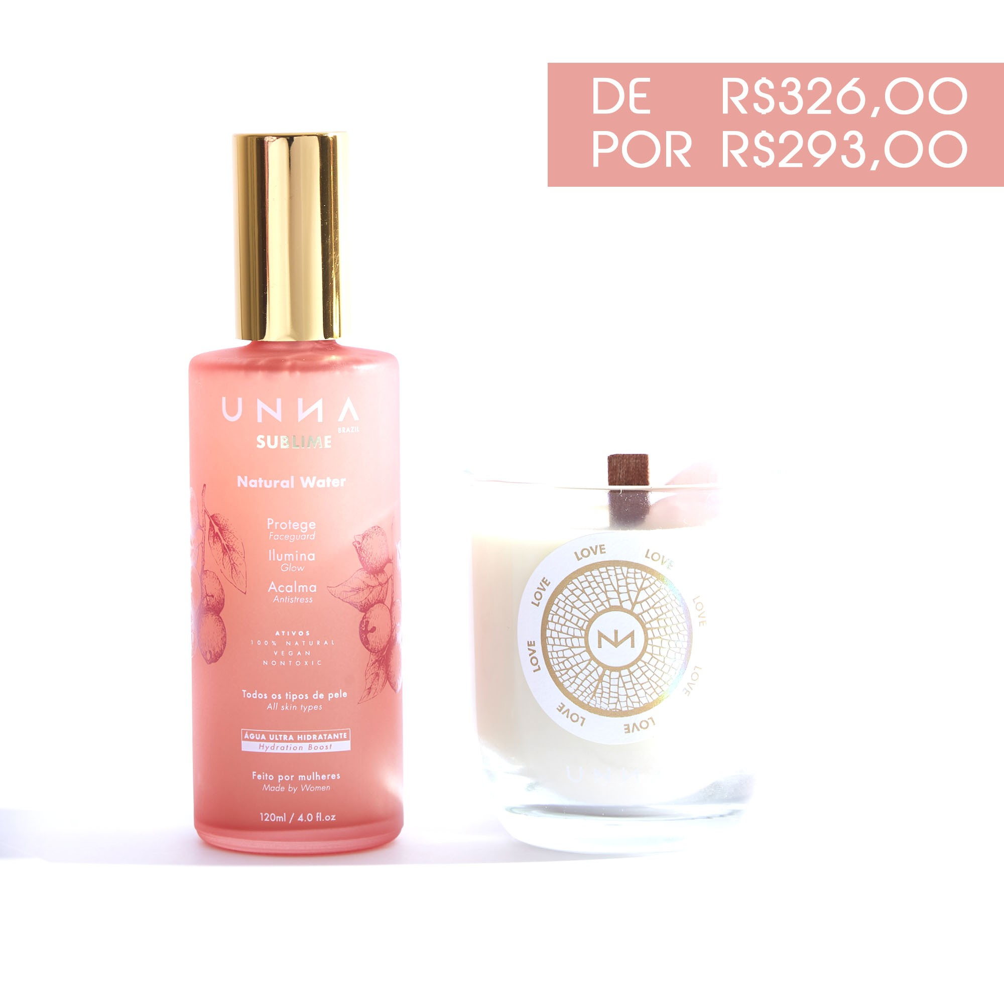 RITUAL ÁGUA SUBLIME 120ML E VELA LOVE