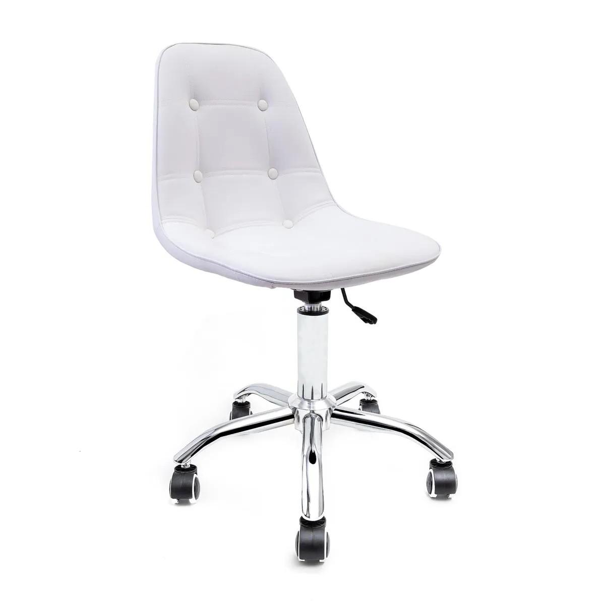 Cadeira Eames Botonê Branca - Base Office Cromada
