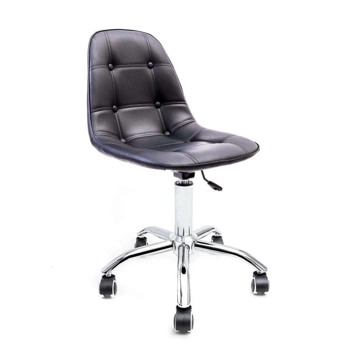 Cadeira Eames Botonê Preta - Base Office Cromada