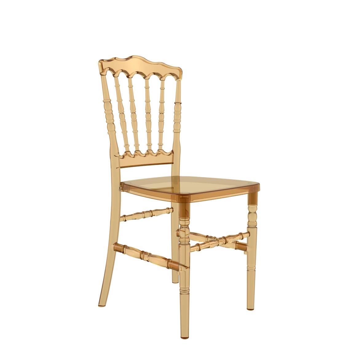 Cadeira Dior Policarbonato Âmbar