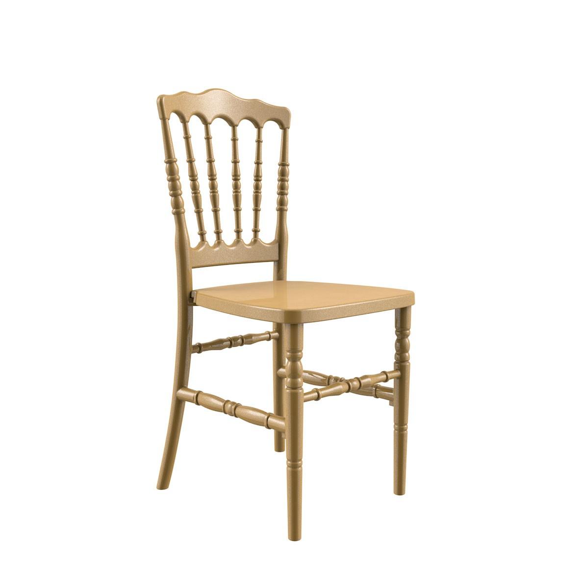 Cadeira Dior Polipropileno Dourada