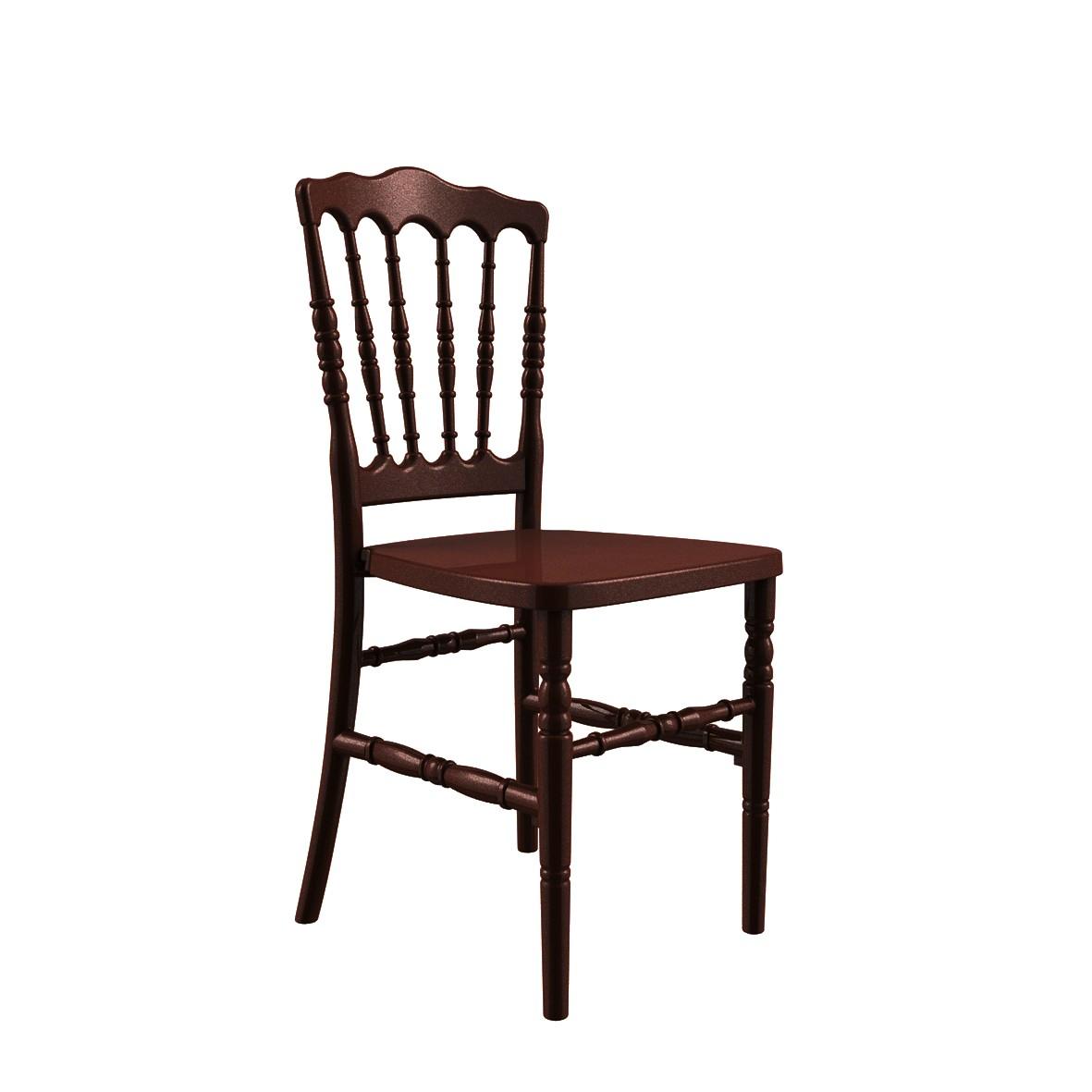 Cadeira Dior Polipropileno Marrom