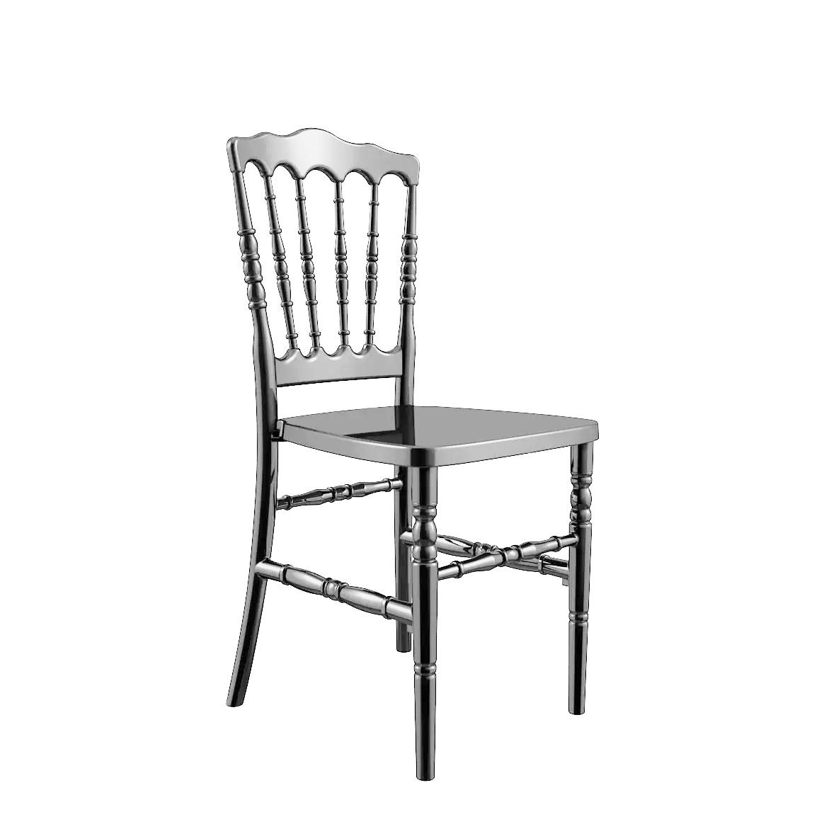 Cadeira Dior Polipropileno Prata