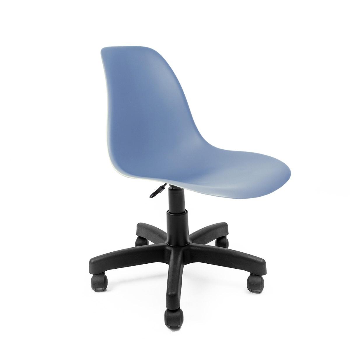 Cadeira Eames Azul - Base Office Preta