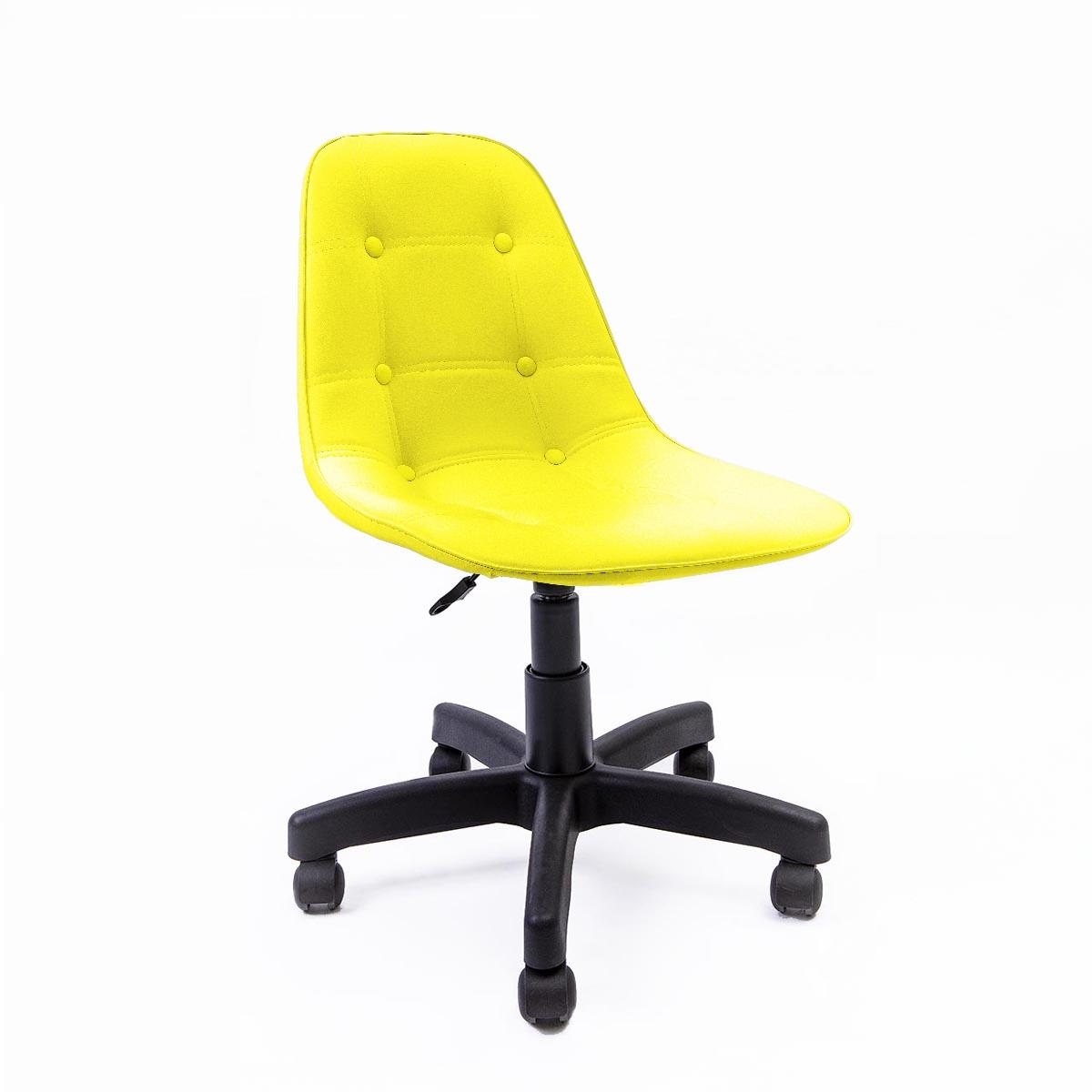 Cadeira Eames Botonê Amarela - Base Office Preta