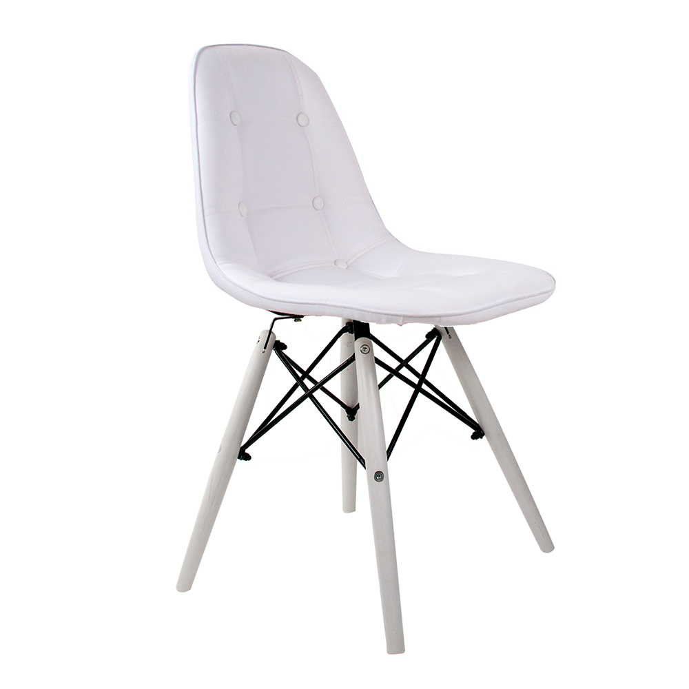 Cadeira Eames Botonê White Edition - Base Branca Polipropileno