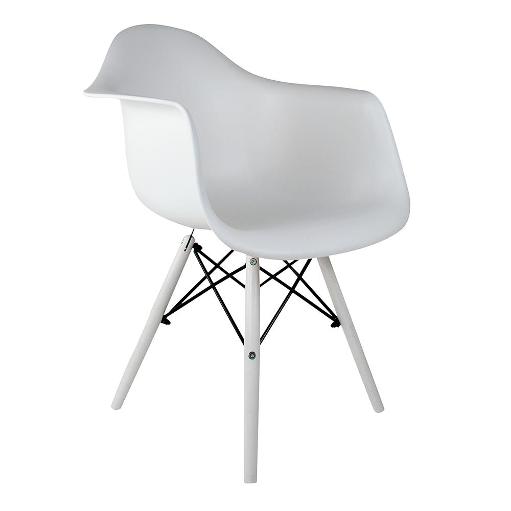Cadeira Eames com Braços White Edition - Base Branca