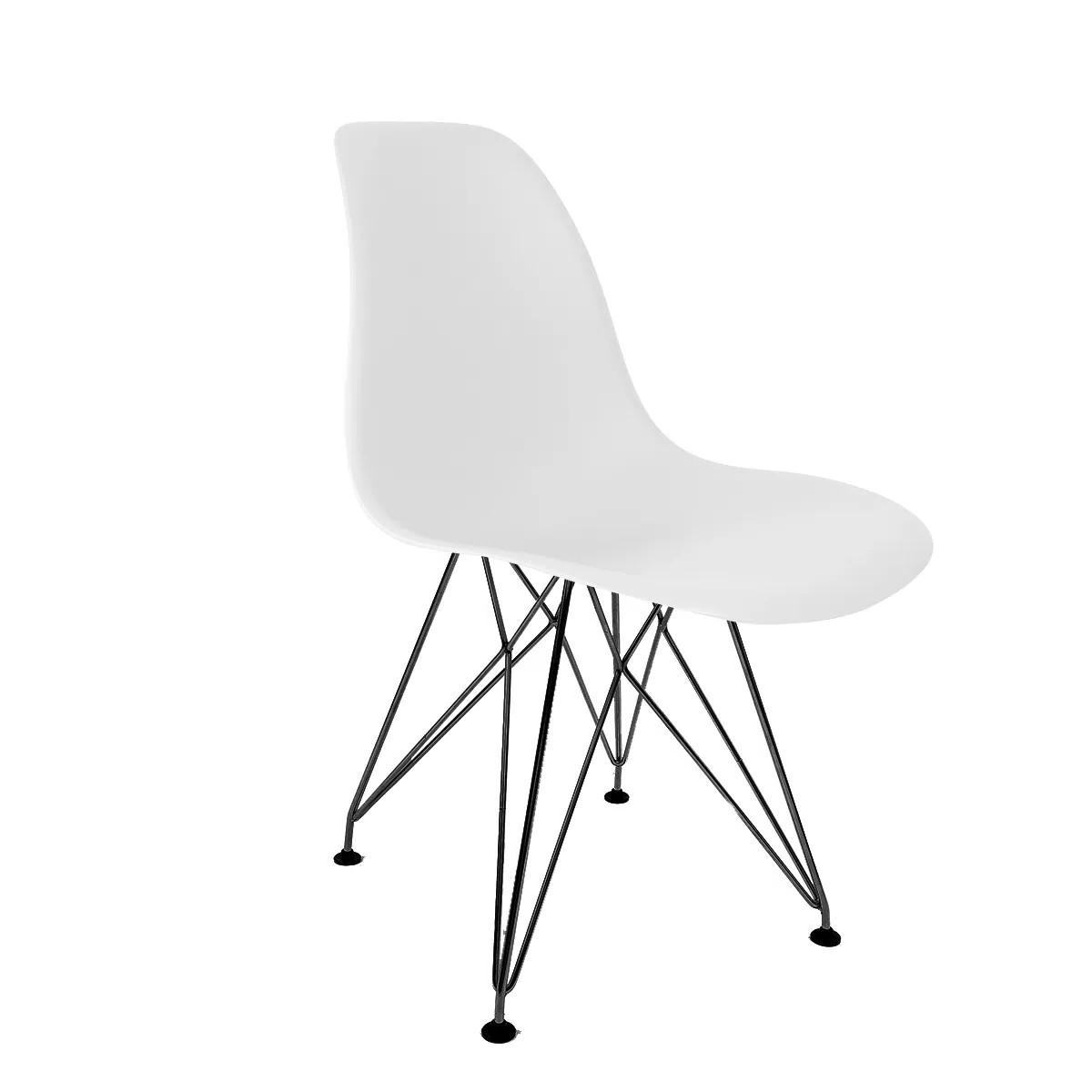 Cadeira Eames Branca - Base Eiffel Preta