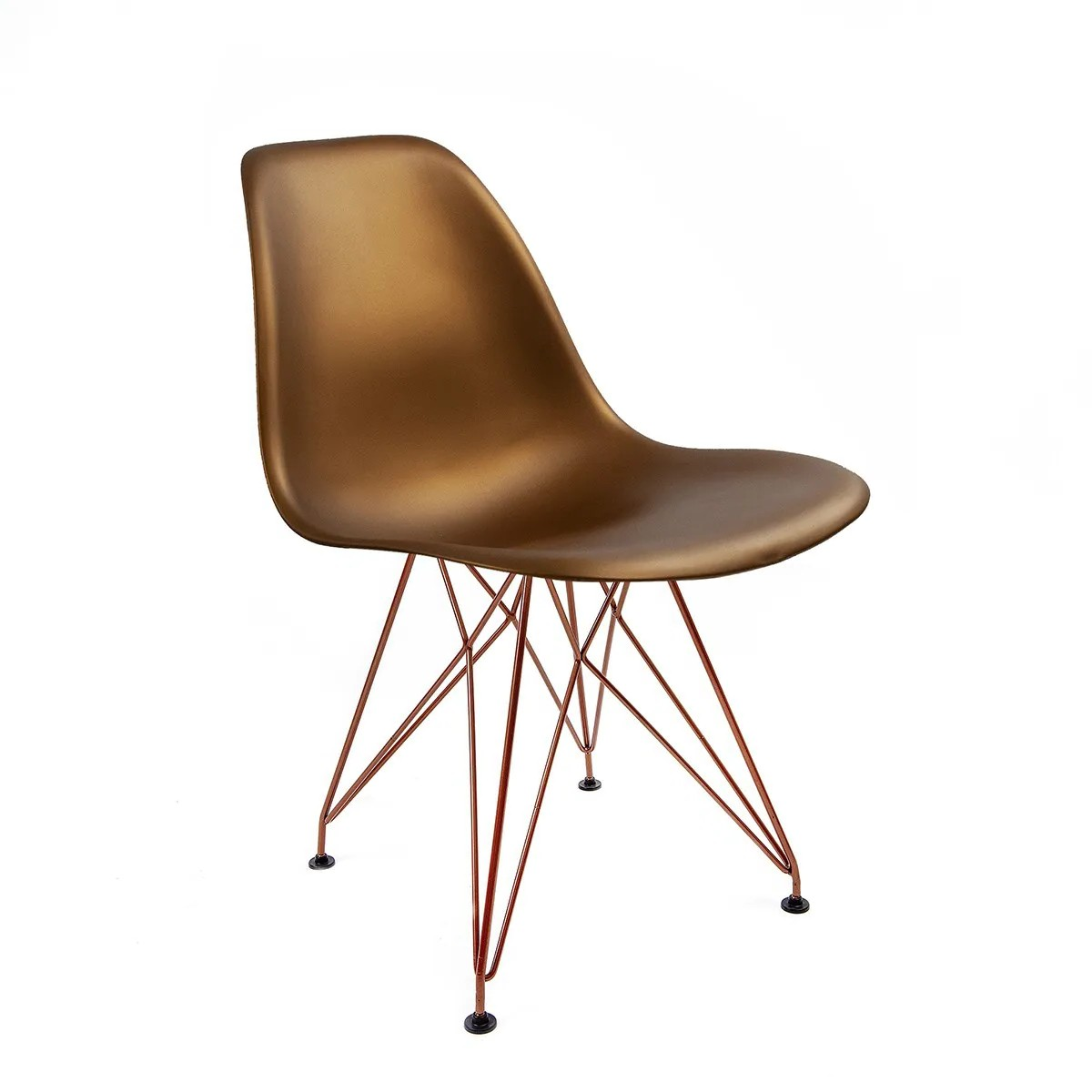 Cadeira Eames Bronze - Base Eiffel Cobre